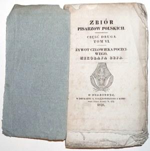 Rej M., ŻYWOT CZŁOWIEKA POCZCIWEGO księgi I, 1828