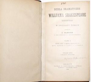 Shakespeare. W, DZIELA DRAMATYCZNE t.1-12 [komplet] , 1895, 36 rycin
