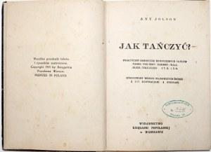 Jolson A., JAK TAŃCZYĆ? wyd. 1935 [liczne rysunki