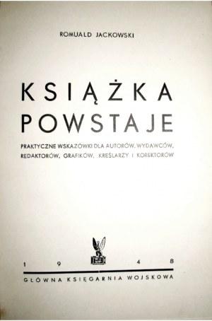 Jackowski R., KSIĄŻKA POWSTAJE, 1948 [ilustracje, oprawa]