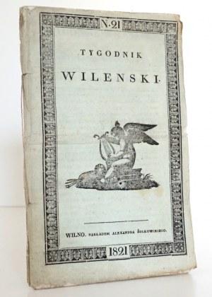 TYGODNIK WILEŃSKI, 1821 [Ignacy Potocki]