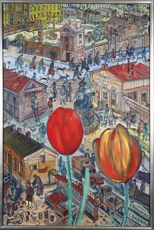 Edward Dwurnik (1943-2018), Tarnobrzeg, z cyklu: Podróże autostopem, 1991