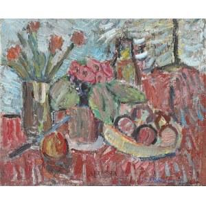 Helena Zaremba-Cybisowa (1911-1986), Martwa natura z tulipanami, 1976