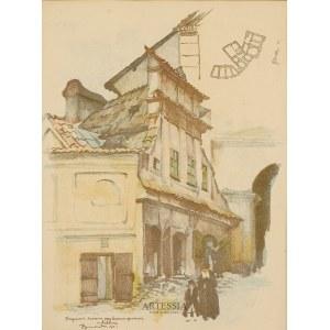 Jan Kanty Gumowski (1883-1946), Fragment bazaru przy Bramie Grodzkiej w Lublinie, 1917