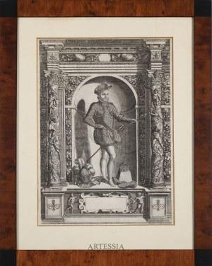 rys. Giovanni Battista Fontana (1541-1587), ryt. Dominicus Custos (ok.1560-1615), Karol IX król Francji (1550-1574)