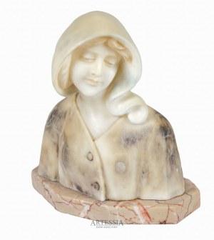 Giuseppe Bessi (1857-1922), Popiersie młodej kobiety w czepcu, ok. 1900