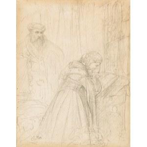 Jan Matejko (1838 Kraków – 1893 tamże), Zygmunt Stary i Barbara Zapolya ?, ok. 1860 r.