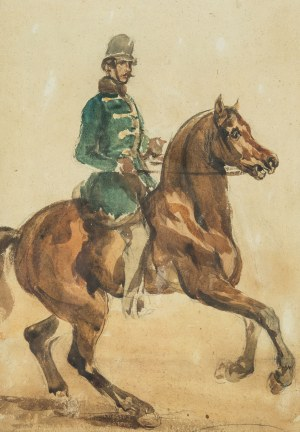 Piotr Michałowski (1800 Kraków – 1855 Krzyżtoporzyce), Huzar, ok. 1850-55