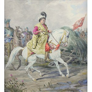 Józef Brodowski (1828 Warszawa-1900 tamże), Juliusz Kossak jako Jan III Sobieski, ok. 1860-1880 r.