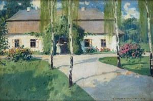 Bronisława Rychter-Janowska (1868 Kraków - 1953 tamże), Przed dworkiem, 1920 r.