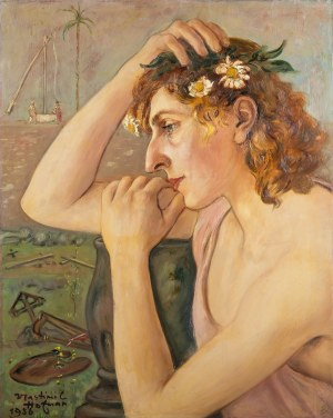 Wlastimil Hofman (1881 Praga - 1970 Szklarska Poręba), Praca dwustronna: Moja miłość, 1956 r. i Scena wiejska, 1952 r.