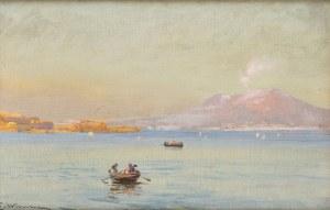 Eugeniusz Wrzeszcz (1851 - 1916), Widok na Wezuwiusz z Zatoki Neapolitańskiej