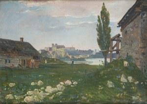 Antoni Gramatyka (1841 Kalwaria Zebrzydowska - 1922 Kraków), Widok zza Wisły. Klasztor w Tyńcu.