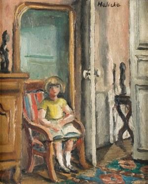 Alicja Halicka (Kraków 1894 - Paryż 1975), Dziewczynka w fotelu, ok. 1926–1928