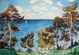 Mieczysław Filipkiewicz (1891 Kraków -1951), Widok na Kamienną Górę w Gdyni, 1928 r.
