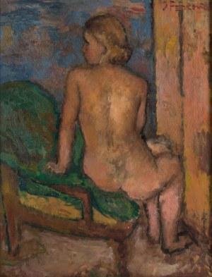 Jerzy Fedkowicz (1891 Stefanówka/Podole - 1959 Kraków), Obraz dwustronny: Akt dziewczyny i Martwa natura II