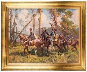 Zygmunt Rozwadowski (1870 Lwów - 1950 Zakopane), Ułani - Beliniacy