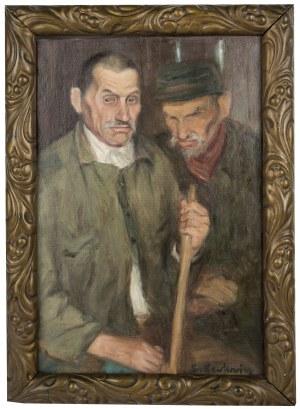 Leon Lewkowicz (1888 Rawa Mazowiecka - 1950 Czimkent/Kazachstan), Portret mężczyzn - Dozorcy
