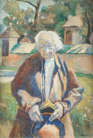 Stanisław Kamocki (1875 Warszawa - 1944 Zakopane), Baca na tle kościoła w Naprawie