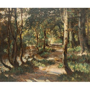 Albert Lipczinski (1876 Lebork – 1974 Sopot), Pejzaż leśny