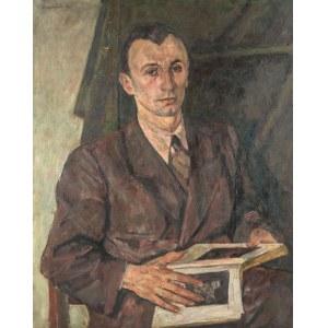 Czesław Rzepiński (1905 Strusowa k. Trembowli - 1995 Kraków), Portret Tadeusza Kwiatkowskiego, 1943 r.