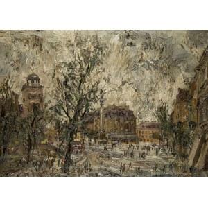 Włodzimierz Zakrzewski (1916 Petersburg - 1992 Warszawa), Plac Zamkowy przed odbudową Zamku Królewskiego, 1969 r.