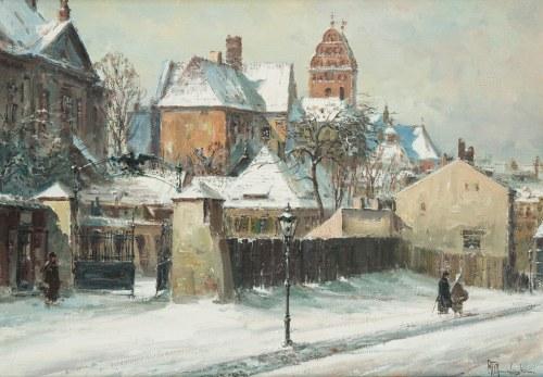 Władysław Chmieliński (1911 Warszawa – 1979 tamże), Widok na Stare Miasto w Warszawie