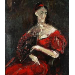 Marek Żuławski (1908 Rzym - 1985 Londyn), Portret damy