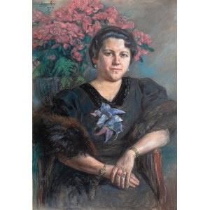 Wincenty Wodzinowski (1866 Igołomnia k. Miechowa - 1940 Kraków), Portret Heleny Mond