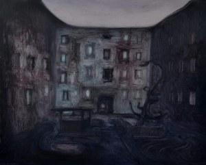 Łukasz Breitenbach, MOJE PODWÓRKO, 65 x 81 cm.