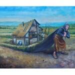 Dariusz Miliński, ODEJŚĆ W SAMĄ PORĘ, 50 x 60 cm.