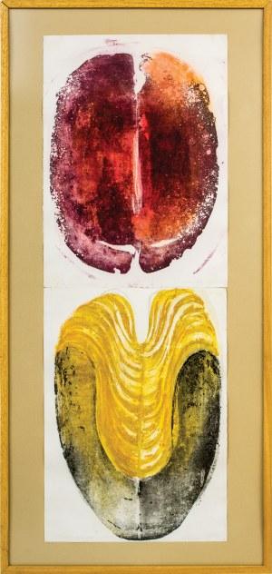 Anna SIEK (ur. 1976), Dyptyk - Środek, Wejście, z cyklu: Nieśmiertelniki 2005