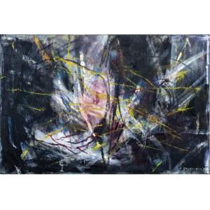 Ewa SADOWSKA (ur. 1953), Drzewo (1) z cyklu: Czarna seria, 2021