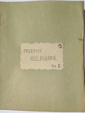PRZEPISY KULINARNE, ok. 1930