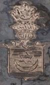 RONDEL Z HERBEM LELIWA HRABIÓW CZAPSKICH, Polska, Warszawa, Norblin, 1896 - 1914