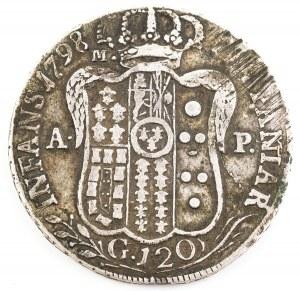 PIASTRA (TALAR), Królestwo Sycylii i Neapolu, Ferdynand IV, 1798