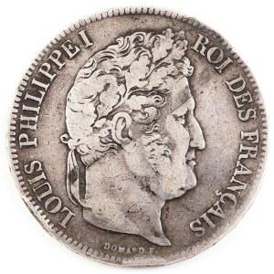 5 FRANKÓW, Francja, Ludwik Filip, 1838 K, Bordeaux