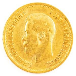 10 RUBLI, Rosja, Mikołaj II, 1899 AГ, Petersburg