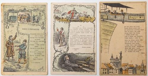 TRZY POCZTÓWKI PATRIOTYCZNE, Wilno, 1914-16