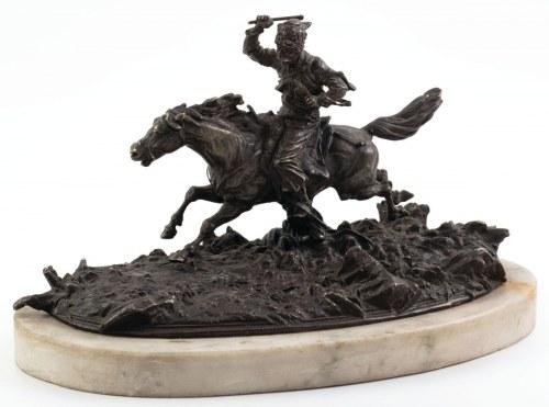 GALOPUJĄCY KOZAK, Rosja, XIX/XX w.