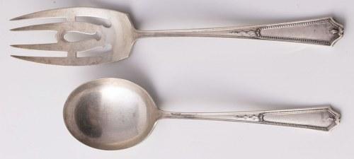 ŁYŻKA I WIDELEC SERWINGOWY, USA, CT, Meriden, International Silver Co, XX w.