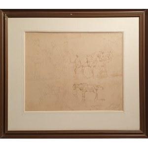 Karol Kossak, Szkice rodzajowe i postaci koni