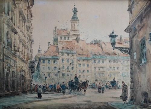 Władysław Chmieliński, Rynek staromiejski w Warszawie
