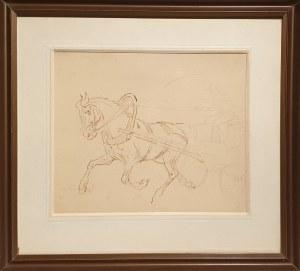 Karol Kossak, Szkic konia w zaprzęgu