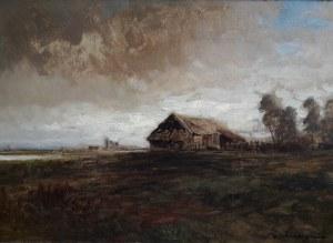 Michał Gorstkin - Wywiórski, Pejzaż jesienny z chatą