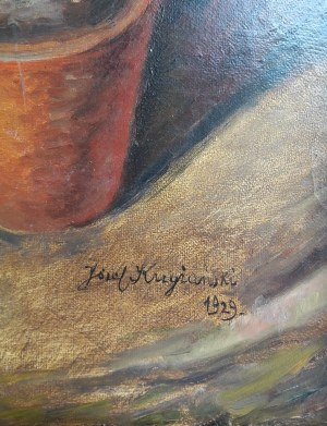 Józef Krzyżański, Martwa natura z chryzantemami ,