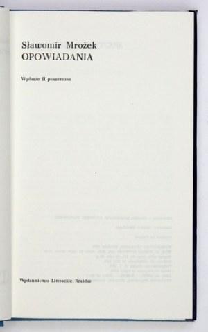 MROŻEK Sławomir - Opowiadania. Wyd. II, poszerzone. Kraków 1974. Wyd. Lit. 8, s. 292....