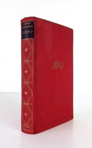 OSSENDOWSKI F[erdynand] Antoni - Biesy. Powieść. Poznań [ca 1937]. Wyd. Polskie (R. Wegner). 16d, s. [4], 255, [1]...