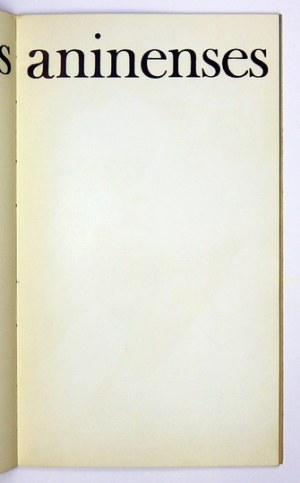 GAŁCZYŃSKI Konstanty Ildefons - Noctes aninenses. Oprac. graf. J. Wilkoń
