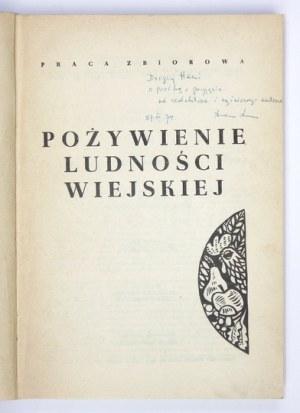 POŻYWIENIE ludności wiejskiej. Praca zbiorowa. Kraków 1973. Muzeum Etnograficzne w Krakowie. 8, s. 320....
